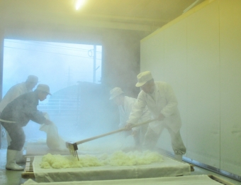 Cooling Down Steamed Rice.