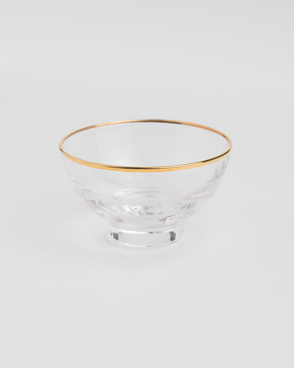 Hand-Made Crystal Gold-Lined Stripe