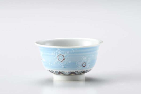 Kutani Snow Flower light Blue