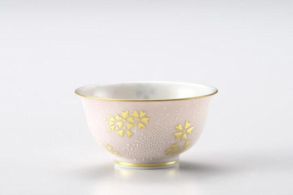 Kutani Uzuuchi Shirochibu Cherry Blossom