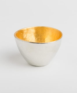 Nousaku Gold-Lined Tin Sake Cup