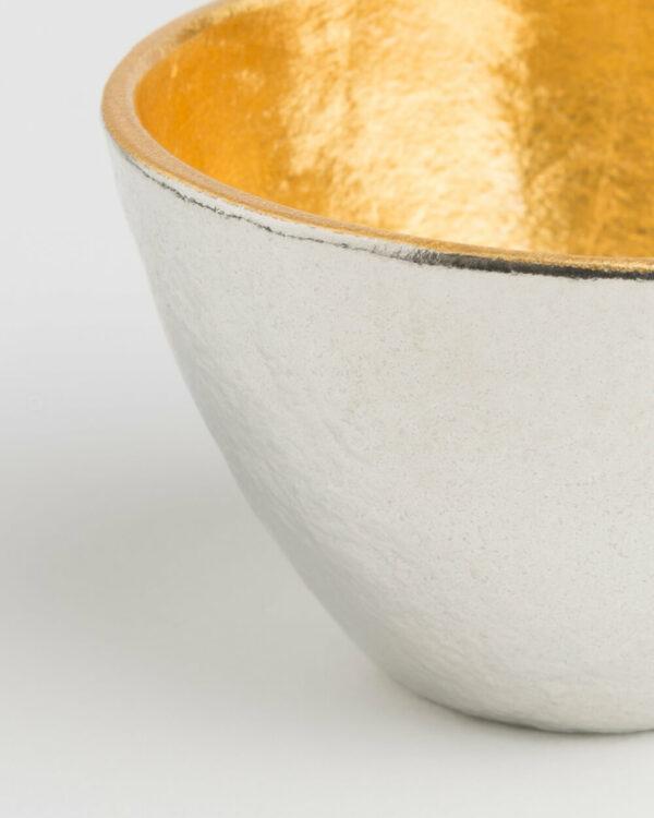 Nousaku Gold-Lined Tin Sake Cup