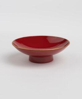 Aizu Lacquered Sakazuki Red Hirahai