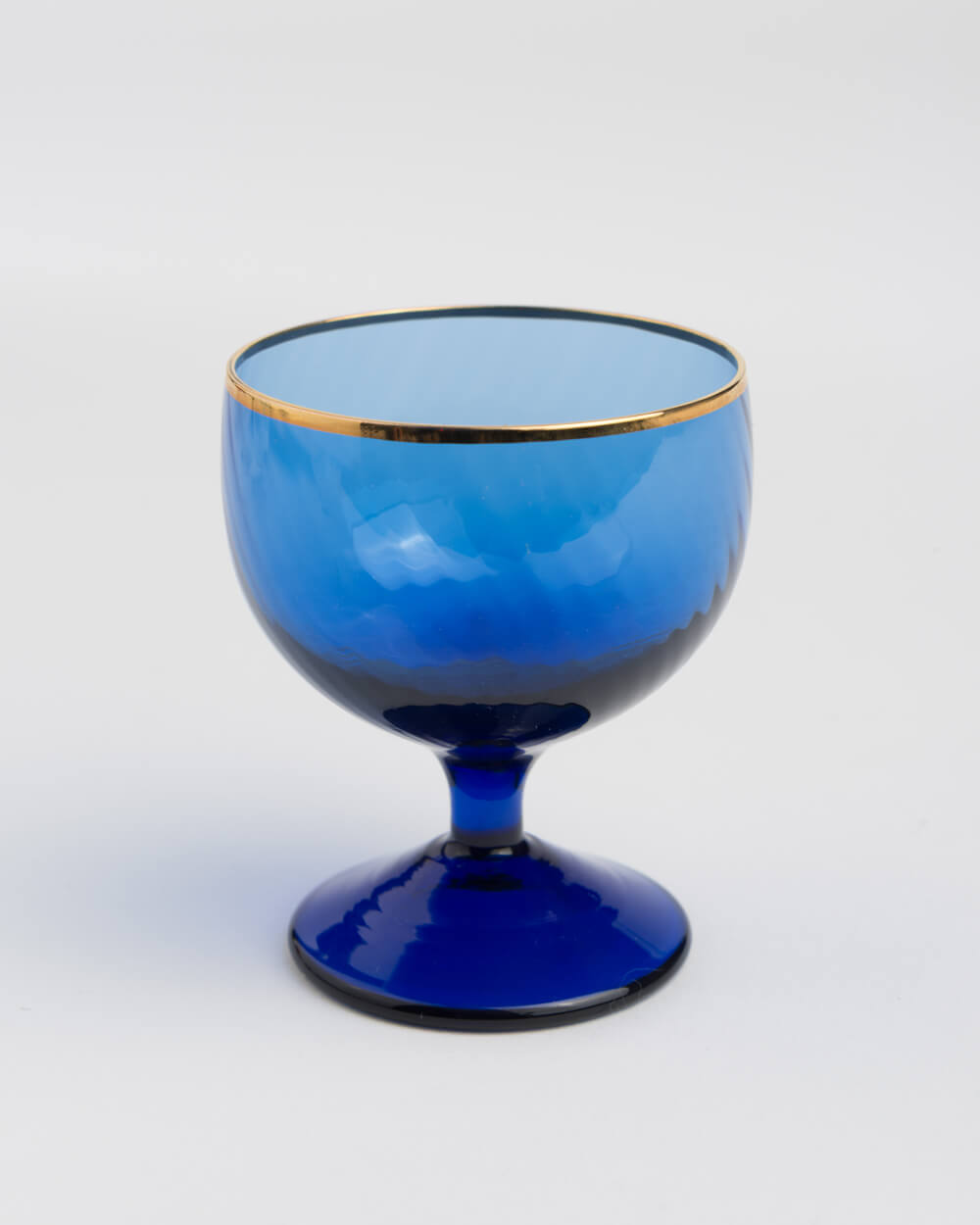 Hand-Made Crystal Gold-Lined Blue