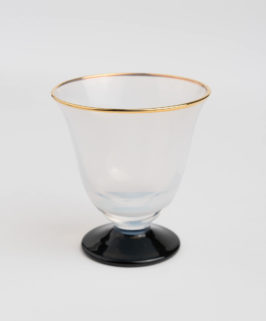 Hand-Made Gold-Lined Opaque Glass with Stem