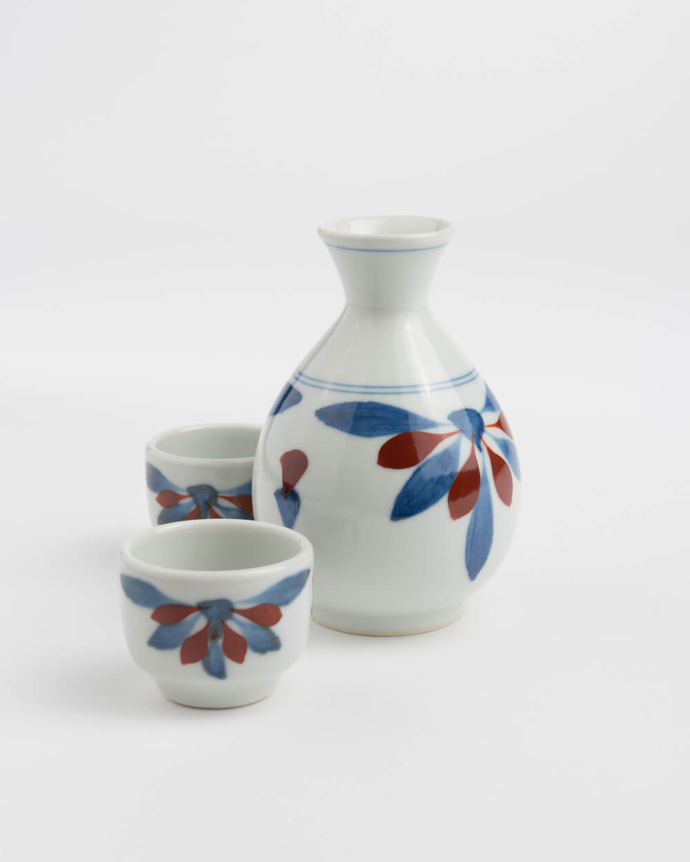 Tobe Sake Set (1Tokkuri & 2 Choko)
