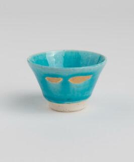 Yoshitaka Araki Kozo Turkish Blue with Gold Guinomi